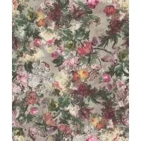 Tapet fibra textila, model floral, Rasch Selection 605631, 10 x 0.53 m