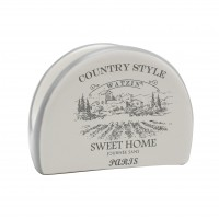Suport bucatarie, pentru servetele, HC4112-G40, ceramica, alb, 9.8 x 4.4 x 7.3 cm