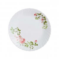 Farfurie adanca Zulmee, opal, alb + model floral, 21 cm