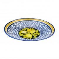 Farfurie adanca Monaco Lemon 21I66, ceramica, multicolora, 21 cm