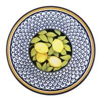 Farfurie intinsa mare, Monaco Lemon 26I66, ceramica, multicolora, 26 cm