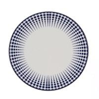 Farfurie intinsa mare, Monaco Dots 26I67, ceramica, 26 cm