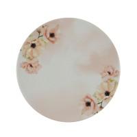 Farfurie desert Monaco Pink Flowers 20I29, ceramica, model floral, 20 cm