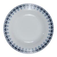 Farfurie adanca EP3707, portelan, alb + model floral albastru, 20 cm