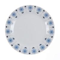 Farfurie intinsa desert EP3707, portelan, alb + model floral albastru, 19 cm