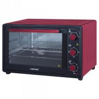 Cuptor electric Albatros A45 Red, 45 litri, 1800 W, timer, functie Stay On, 4 functii de gatire, functie de reglare a temperaturii, geam dublu, rosu
