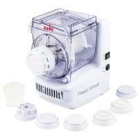 Masina automata pentru paste Zass ZPM 01, 180 W, 7 accesorii pentru paste, pahar de masurare, functie de extrudare si mixare, alba