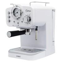 Espressor cafea Samus Espressia White, cafea macinata, 15 bar, 1100 W, capacitate 1.6 l, termometru, selector nivel abur, alb