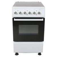 Aragaz electric Studio Casa Mercur 4Z White, plita vitroceramica, 4 zone pentru gatit, cuptor electric, 5 functii, grill, termostat, iluminare cuptor, latime 50 cm, alb