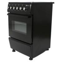Aragaz electric Studio Casa Mercur 4Z Fan Black, plita vitroceramica, 4 zone pentru gatit, cuptor electric, 7 functii, grill, ventilator, termostat, iluminare cuptor, latime 50 cm, negru