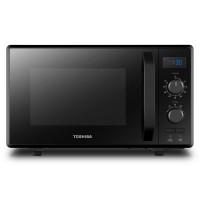 Cuptor cu microunde Toshiba MW2-AG23PBK, 23 l, 900 W, 4 nivele de putere, control mecanic, 8 meniuri prestabilite, grill, functie decongelare, ceas digital, timer, functie de blocare copii, negru