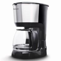 Cafetiera Rohnson R991, 750 W, 1.25 l, capacitate 10 cesti, filtru permanent lavabil, functie antipicurare, functie mentinere cafea calda, sistem ERP pentru economisire energie, negru + argintiu