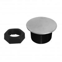 Dop ornament pentru chiuveta, S119 - 24, negru / cromat, D 45 mm