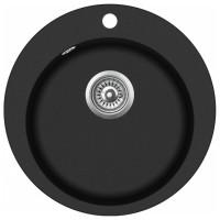 Chiuveta bucatarie compozit granit Evido Tondo antracit neagra rotunda diametru de 50.5 cm