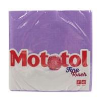 Servetele de masa Mototol Fine Touch, celuloza, lila, 2 straturi, 33 x 33 cm, 40 buc / set