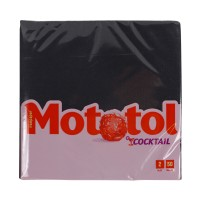 Servetele de masa Mototol Cocktail, celuloza, 2 straturi, negru, 24 x 24 cm, 50 buc / set