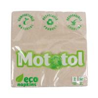 Servetele de masa Mototol Eco, celuloza reciclata, natur, 2 straturi, 33 x 33 cm, 50 buc / set