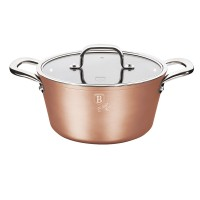 Oala cu capac Berlinger Haus BH/1688, Bronze Titan Collection, aluminiu forjat, 2.5 L, D 20 cm