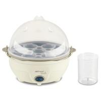Fierbator de oua electric Delimano Perla Egg Master, 350 W, capacitate 7 oua, oprire automata, crem