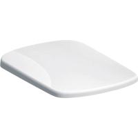 Capac WC din duroplast, Geberit Selnova 500.336.01.1, alb, inchidere lenta, balamale quick release, 355 x 450 mm