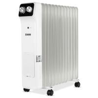 Radiator electric cu ulei Zass ZR 13 N, 3 trepte, 2600 W, 620 x 140 x 650 mm, 13 elementi, termostat reglabil, protectie la supraincalzire, indicator luminos de functionare, maner si rotite pentru o deplasare facila, alb