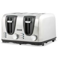 Prajitor de paine Zass ZST 09, 1400 W, 4 felii, functie decongelare, functie reincalzire, functie anulare, 7 trepte putere, functie de centrare automata, oprire automata, butoane cu iluminare LED, argintiu