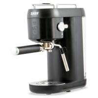 Espressor cafea Zass ZEM 09, cafea macinata + capsule, 20 bar, 1400 W, capacitate 1 litru, maner durabil din rasina fenolica, sistem termobloc, suport din inox pentru cesti cu functie de incalzire, negru