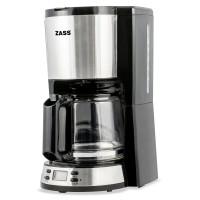 Cafetiera Zass ZCM 04T, 1000 W, 1.5 litri, capacitate 10 - 12 cesti, functie antipicurare, functie de mentinere cald, oprire automata, programare intarziata, protectia rezistentei la lipsa apei, display LCD, negru + argintiu