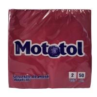 Servetele de masa Mototol, celuloza, bordo, 2 straturi, 39 x 39 cm, 50 buc / set