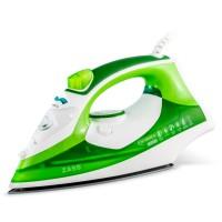 Fier de calcat Zass A 15, 2200 W, talpa ceramica, 0.36 litri, 120 g/min, functie de auto-curatare, functie anti-picurare, functie anti-calcar, pulverizare apa, calcare verticala, verde cu alb