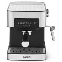 Espressor cafea Samus Evolution 20, cafea macinata, 20 bar, 850 W, capacitate 1.6 litri, panou touch control, valva de siguranta eliberare presiune, rezervor din aliaj de aluminiu, indicatoare luminoase, argintiu + negru
