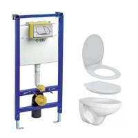 Pachet rezervor apa, incastrat, LIV JOG, clapeta de actionare, vas WC si capac incluse