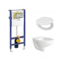 Pachet rezervor apa, incastrat, LIV Herkul 7522, clapeta de actionare, vas WC si capac incluse