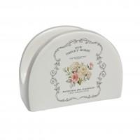 Suport bucatarie, pentru servetele, HC4112-A21, ceramica, alb, 9.8 x 4.4 x 7.3 cm