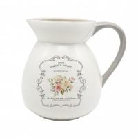 Carafa HC7027-A21, ceramica, alb, model Sweet Home, 1.95 l