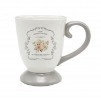 Halba bere HC1641-A21, model Sweet Home, ceramica, alb + gri, 600 ml