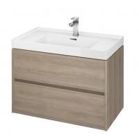 Masca baie pentru lavoar, Cersanit Crea S924-009, cu sertare, stejar, montaj suspendat, 79.4 x 44.7 x 53.3 cm