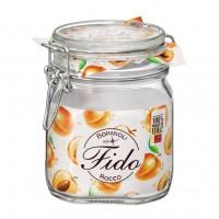 Borcan cu capac ermetic Bormioli Fido, sticla transparenta, 0.75 l