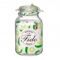 Borcan cu capac ermetic Bormioli Fido, sticla transparenta, 3 l