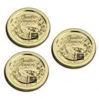 Capac pentru borcan Bormioli Quattro Stagioni, metal, auriu, D 56 mm, set 3 bucati