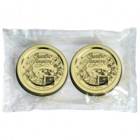 Capac pentru borcan Bormioli Quattro Stagioni, metal, auriu, D 70 mm, set 2 bucati