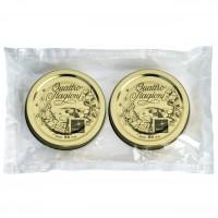Capac pentru borcan Bormioli Quattro Stagioni, metal, auriu, D 86 mm, set 2 bucati