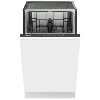 Masina de spalat vase incorporabila Gorenje GV52040, 9 seturi, 5 programe, clasa E, latime 45 cm, optiune pornire intarziata pana la 9 ore, filtru cu auto-curatare, sistem anti-inundatie Total AquaStop