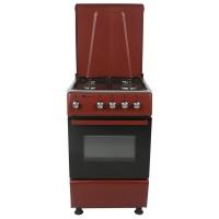 Aragaz pe gaz Studio Casa Galaxy 4G 50/50 RED, 4 arzatoare, cuptor pe gaz, dispozitiv siguranta arzatoare si cuptor, latime 50 cm, plita inox, usa dubla cuptor, picioruse ajustabile, rosu