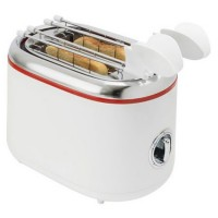 Prajitor de paine Ardes AR1T20 WH, 850 W, 2 felii, clesti din otel inoxidabil, timer, tava pentru firimituri detasabila, alb