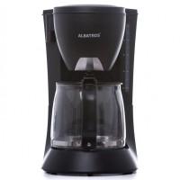 Cafetiera Albatros Verona Black 2, 680 W, 1.2 litri, capacitate 8 - 10 cesti, functie anti-picurare, filtru permanent inclus, cana de sticla, neagra