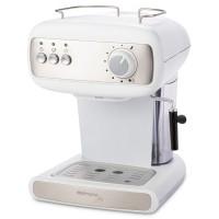 Espressor cafea Delimano Joy White, cafea macinata + capsule, 15 bar, 850 W, capacitate 1.2 litri, design cu filtrare dubla, suport de incalzire cu protectie impotriva caderii, curatare automata a sistemului de spumare, alb