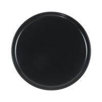 Farfurie desert Nordic, ceramica, negru, 20 cm