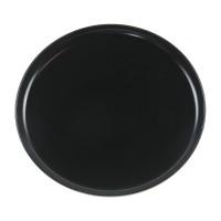 Farfurie intinsa Nordic, ceramica, negru mat, 27 cm