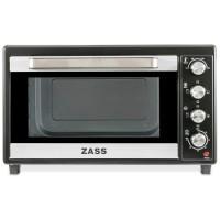 Cuptor electric Zass ZEO 48 CR, 48 litri, 1800 W, timer, termostat reglabil, geam dublu din sticla termo-rezistenta, bec iluminare, temporizator cu sunet de avertizare, rotisor, decongelare, negru